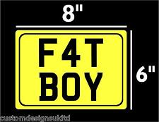 """MOTORBIKE MOTOR CYCLE NUMBER PLATES SHOW PLATES  8"""" x 6"""" !!!!!"""