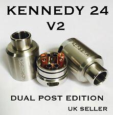 KENNEDY 24 V2 RDA 1:1 Dual Post 4 Airflow pipes Shisha +Spares Subohm Shisha