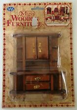 NEW VICTORIAN DOLLS HOUSE FURNITURE: WOODEN CABINET / CUPBOARD 14cm Tall.