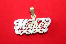"10K TWO TONE WHITE/YELLOW GOLD ""MOTHER"" PENDENT 3D,4 GRAMS"