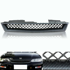 JDM TYPE-R STYLE CARBON LOOK ABS FRONT HOOD GRILLE GRILL FIT 94-97 HONDA ACCORD
