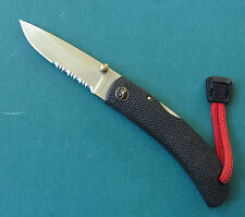 BROWNING Medium Drop Point Knife 726 - Seki Japan 440C Black Lockback Folder