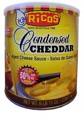 Ricos Condensed Cheddar Aged Cheese Sauce Large Jar 6 lb 11 oz