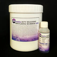 High Quality RTV Silicone Moulding Rubber 1kg 30g kit Shore A28 Fast Curing