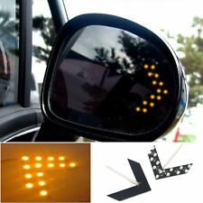 2 Pcs Yellow Arrow Indicator 14SMD LED Car Side Mirror Turn Signal Light For BMW