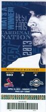 2013 Cardinals vs Brewers Ticket: Jonathan Lucroy  Ryan Braun Matt Adams hit HRs