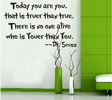 Dr Seuss Removable Vinyl Love Poetry Quote Wall Sticker Decal Home Decor Novelty