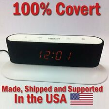 SecureGuard HD 720p Onn Alarm Clock Radio Spy Camera Covert Hidden Nanny Cam