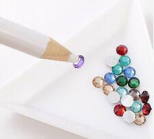 5x Tarjeta de herramientas de diamante de imitación de Lápiz Selector De Cera Fabricación De Joyas Arte en Uñas portador de gema