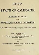 1905 SAN JOAQUIN Valley California CA, History and Genealogy Ancestry DVD V95