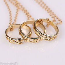 "GIFT NEW Fashion Gold-plated Ring Pendant Necklace letter""BEST FRIEND FOREVER"""