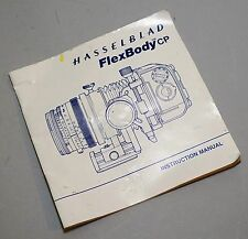 Hasselblad Flexbody Instruction Booklet in English