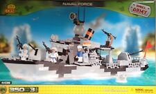 Cobi WW II Small Army Navy Naval Force Military Ship 3 Minifigures Toy Bricks