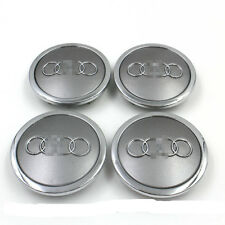 4 Grey  Car Wheel Center Hub Cap Emblem Badge Logo 69mm AUDI 4B0601170A