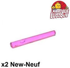 Lego - 2x Bar 4L barre sabre Lightsaber Blade rose trans dark pink 30374 NEUF