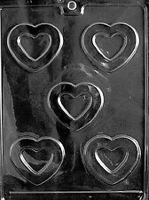 MEDIUM HEART PIECES mold Chocolate Candy making valentines hearts cake toppers