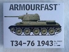 ARMOURFAST / HAT 1/72 WW2 Russian T34/76 Tanks 1943 - 2 Tanks 99022 BRAND NEW