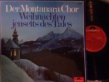 LP Der Montanara Chor Weihnachten jenseits des Tales rare German press 1967 EX