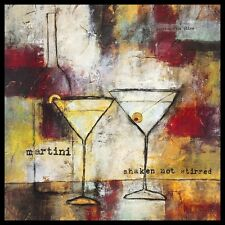 Jane Bellows Martini Shaken not Stirred Poster Bild Kunstdruck & Rahmen 60x60cm