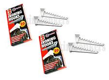 4 sobre la puerta Ropa Space Saver Abrigo almacenamiento Colgador De Ropa De Plancha Ganchos