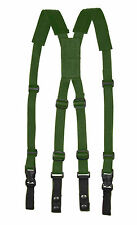 "2"" Wide Shoulder Pad Green Police Gun Tactical Equipment Duty Belt Suspenders"