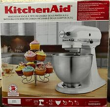 NEW KITCHEN AID K45SS  White 275 Watt  4-1/2-Quart TILT-HEAD STAND MIXER