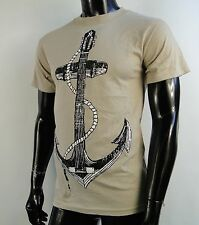 Hurley Surfing Team Classic beige Mens T shirt size Small HRL-97