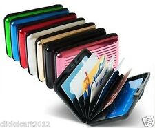 Aluminum ID RFID Business Credit Cards Holder Wallet Protection Case - Black