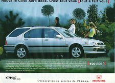 Publicité Advertising 1998  HONDA  CIVIC Aero deck