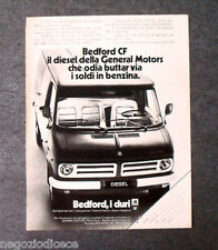 P181 - Advertising Pubblicità -1972- BEDFORD CF , GENERAL MOTORS , I DURI