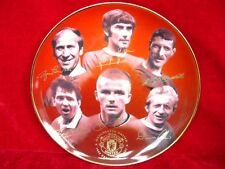 "8"" DANBURY MINT MANCHESTER UNITED PLATE PLAQUE GEORGE BEST CENTENERY EDITION"