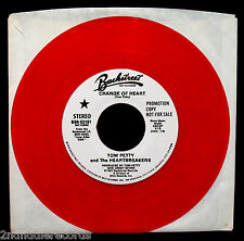 TOM PETTY and THE HEARTBREAKERS-Change Of Heart-Rare Red Vinyl Promotional 45