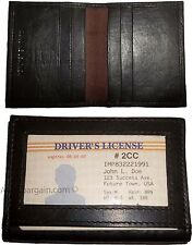 Lot of 2 Leather business card credit card case ID ATM wallet Card carrier BNWT