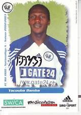 FOOTBALL carte joueur YACOUBA BAMBA équipe FC WIL 1900 signée