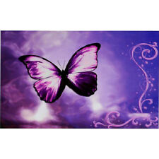 New Purple Butterfly Flower Swirl Decorative Sticker Decal for 14 Laptop PC WS