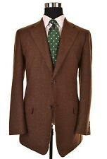 RECENT Ermenegildo Zegna Shetlair Travel Brown Cashmere TWEED Sport Coat 54 44