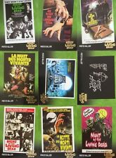 Night Of The Living Dead 9 Card Poster Chase Set And Sketch Blank