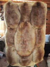 9 Beaver Pelt's Trimmed in Elk Hide and quilted with Pendleton Blanket on back