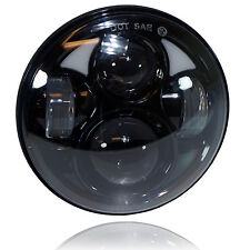 "5.75"" 5 3/4 LED Motorcycle Headlight Daymaker Black Projector DRL Bulb Fr Harley"