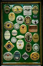 Guinness Framed Assorted Labels 1 Metal Pub Bar Irish Licensed Sign Vintage