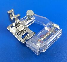 DOMESTIC SEWING MACHINE LOW SHANK BIAS BINDING ADJUSTABLE FOOT BINDER CLEAR