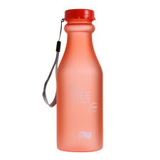 Portable Sport Camping Cycling Travel Plastic Fruit Juice Water Bottle Cup 550ml