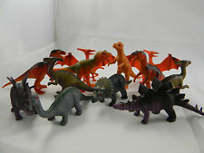 Dinosaurs Assorted Breeds 3-4 inches Long Toy Plastic 12 Figures Asst. Colors