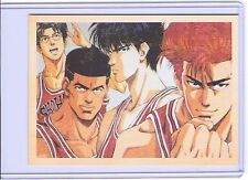 VINTAGE REPRO CARTOON JAPANESE BASKETBALL PLAYERS REPRODUCTION POSTCARD