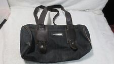 ARMANI EXCHANGE SHOULDER BAG PURSE HANDBAG BLUE-JEAN DENIM LEATHER SMALL BARREL