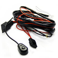 Fit 2 Pc  20W Car Fog Lights Worklamp Relay Harness Wire Kit + LED ON/OFF Switch