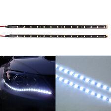 2PC 12 LED 30cm 5050 SMD LED Strip Light Flexible 12V Car Decor Waterproof White