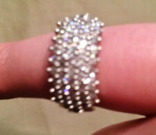 14 kt white gold diamond ring appraisal $1250 49 diamonds approx. size 6
