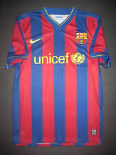 Authentic 2009/2010 Nike FC Barcelona FCB Home Jersey Shirt Kit Player Issue M