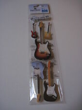Scrapbooking Stickers 3D Paper House Fender Guitars Guitar Different Sizes
